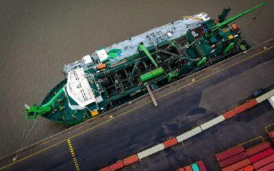 Primeur: baggerwerken op de Schelde worden uitgevoerd op lng